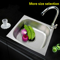 Free Shipping Fashion Common Mini Balcony Sink 304 Stainless Steel Single Slot Hot Sell 37x31 42x36