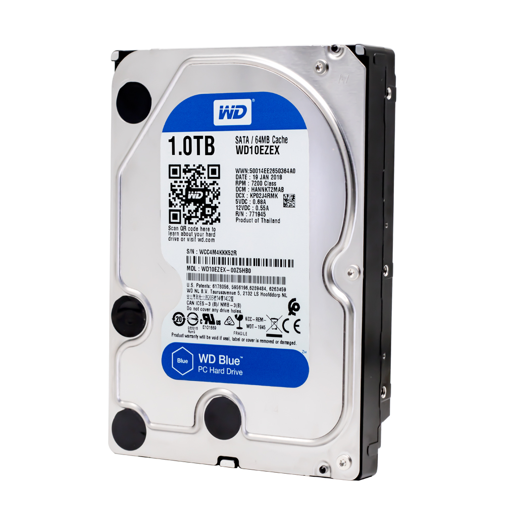 Western Digital Wd Blue 1tb Hdd Sata 35 Inch Wd10ezex Desktop Hardisk Internal Pc 500gb 7200 Rpm 6gb S Cache 64mb Disk In External Hard Drives From Computer
