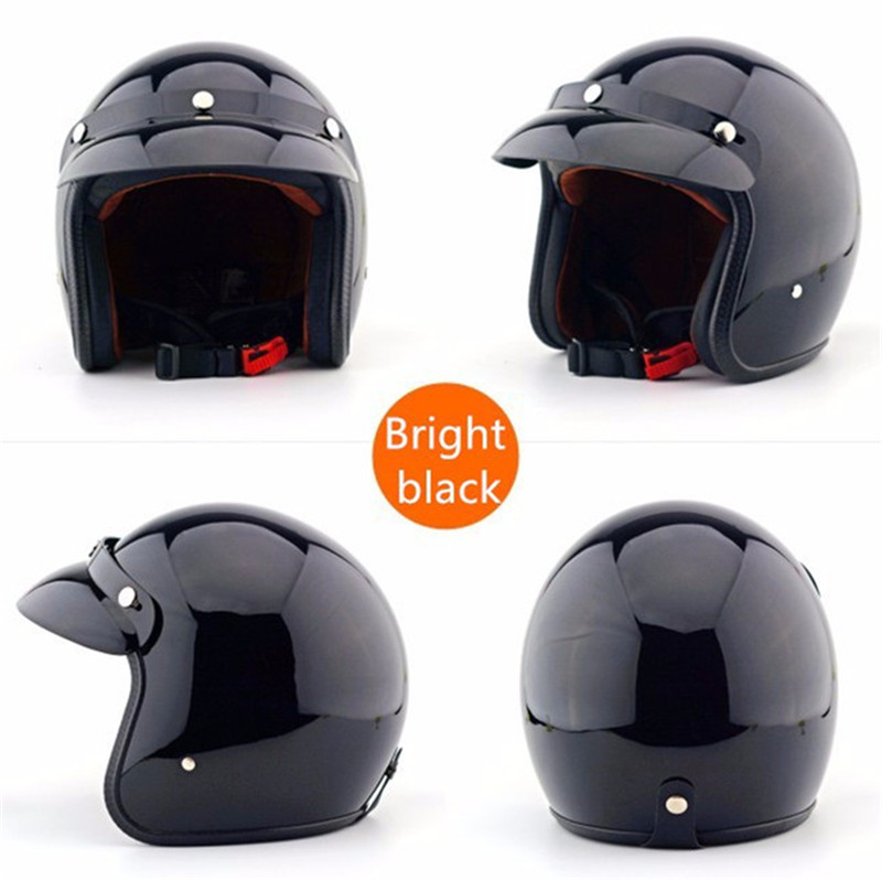 Real Open Face Cascos Motorcycle Helmet Support New Colors Retro Fashion Motos Unisex And Moto Cafe Racer Capacete