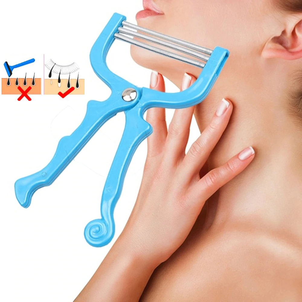 Wx062 1pc 3 Colors Manual Female Facial Hair Remover Spring Roller Threading Epilator Shaver Beauty Facial Makeup Tool Skin Care
