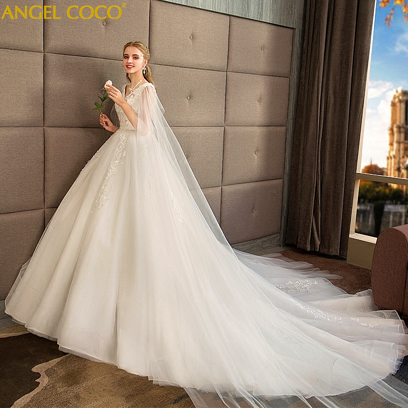 100KG Can Wear Pregnancy Maternity Dress Simple Pregnant Woman Wedding Dress High Waist Trailing Large Size Bride Gown Marriage