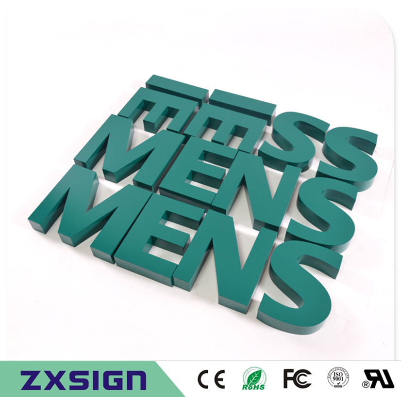 factory outlet outdoor painted metal lettersbaking finish stainless steel letters