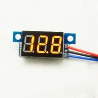 New Arrival DC0-200V 0.36Inch LCD Mini Digital Voltmeter Yellow LED Display Volt Meter Gauge Voltage Panel