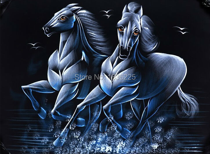 modern paintings with a knife Hand Painted Two Horses Oil Painting Canvas oil painting wall hanging canvas Oil Painting on Canvamodern paintings with a knife Hand Painted Two Horses Oil Painting Canvas oil painting wall hanging canvas Oil Painting on Canva