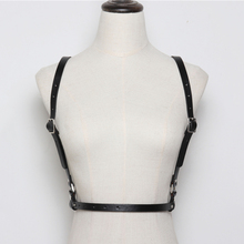 HATCYGGO Belt Female Sexy Punk Slim Leather Harness Belts For Women Shoulder Body Bondage High Garter