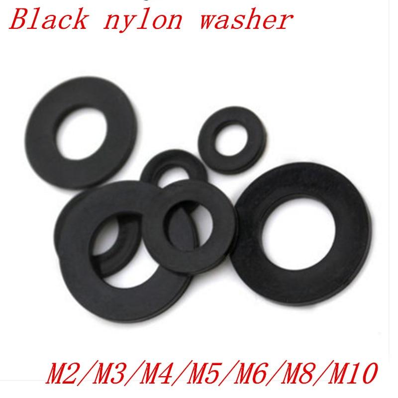 M10 Nylon-Unterlegscheiben M8 M6 M12 Schwarz Kunststoff schwarz