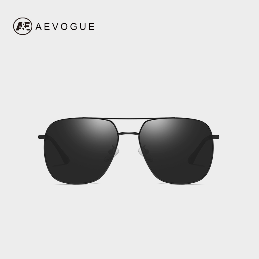 210d0717b9b7 AEVOGUE Polarized Sunglasses Men 2019 Brand Designer Mirror Lens  Double-Bridge Metal Frame Luxury Sun