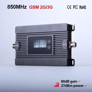Image 2 - 신제품! 80dbi 이득 2g 3g 850 mhz 모바일 신호 부스터 cdma 850 mhz celular 신호 증폭기 리피터 전용 리피터 + 어댑터
