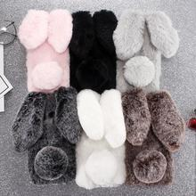 Rabbit Fur P Smart 2019 Cases For Huawei
