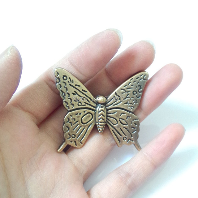 10pcs Antique Bronze Butterfly Cabinet Handle Knob Drawer Pull