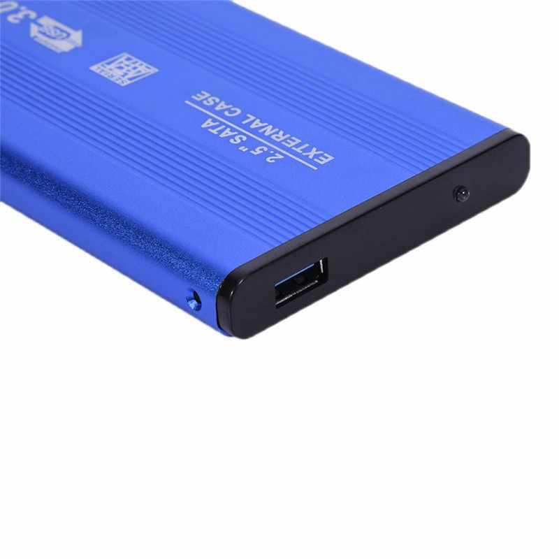 """Bleu 2.5 """"pouces boîtier de boîtier externe boîtier de disque dur Mobile USB 3.0 à SATA HDD disque dur pour la sauvegarde des données Windows/Mac OS"""