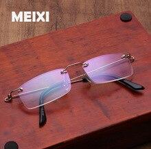 Оправы памяти металлический каркас Асферические Смолы очки Сверхлегкий Покрытие Чтение очки Женщины Мужчины Очки 1.0 1.5 2 2.5 3 3.5 4