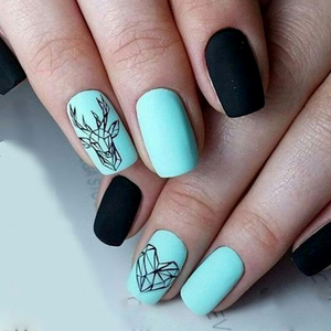 Image 4 - 1pc Abstract Animal 3D Nail Art Stickers Folding Lions Nail Sticker Origami Animal Flexagon Adhesive Decals