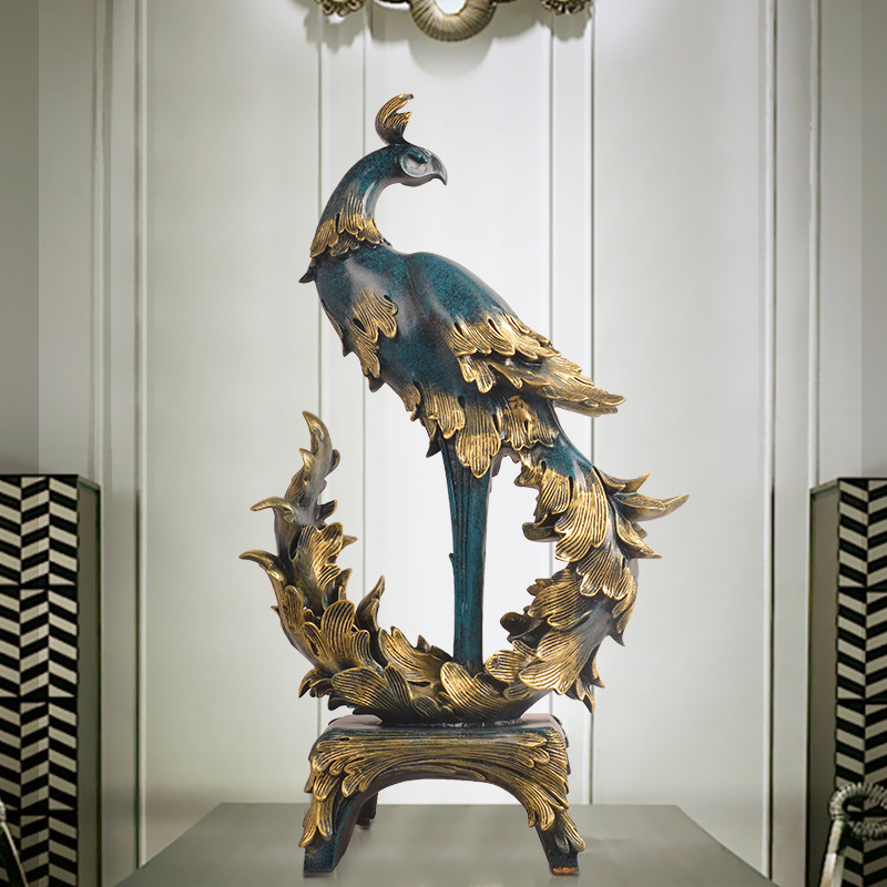 European Phoenix Resin Furnishings Portraits Living Rooms Home Furnishings Creative Practical New Homes Gifts Figurine Home
