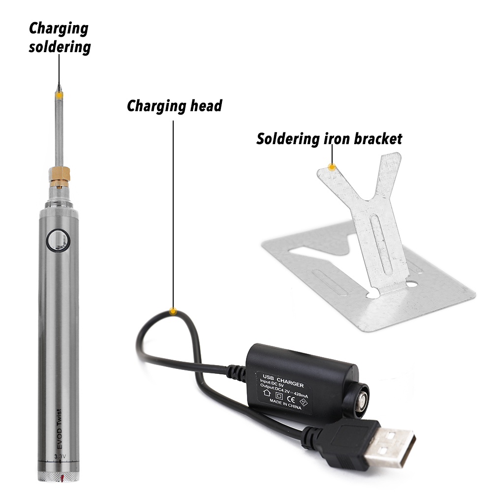 Soldering Iron Wireless Charging Soldering Iron Mini Portable Battery Soldering Iron with USB Welding Tools