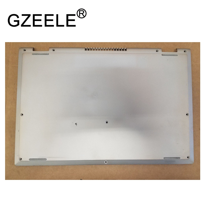 GZEELE new laptop bottom base cover lower case for Dell Inspiron 13-7000 13-7347 7347 7348 R3FHN silver brand new laptop top cover palmrest cover case with keybaord upper cover top case for dell inspiron 13 7000 7347 7348 7352 7359
