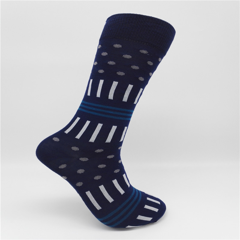 CH0015 Brand Fashion Socks Mens Casual Cotton Classic Business Socks Stripe square Dress Sock For Men