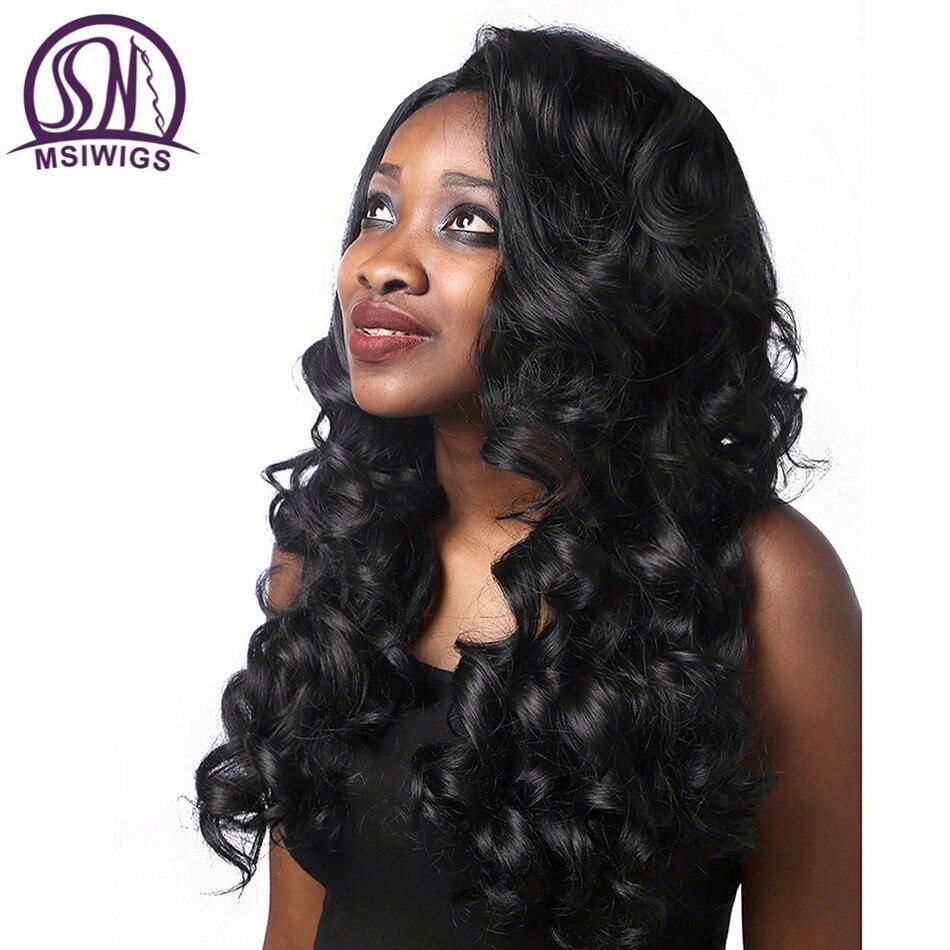 WSIWIGS μακρύ μαύρο σγουρό περούκες - Συνθετικά μαλλιά - Φωτογραφία 3