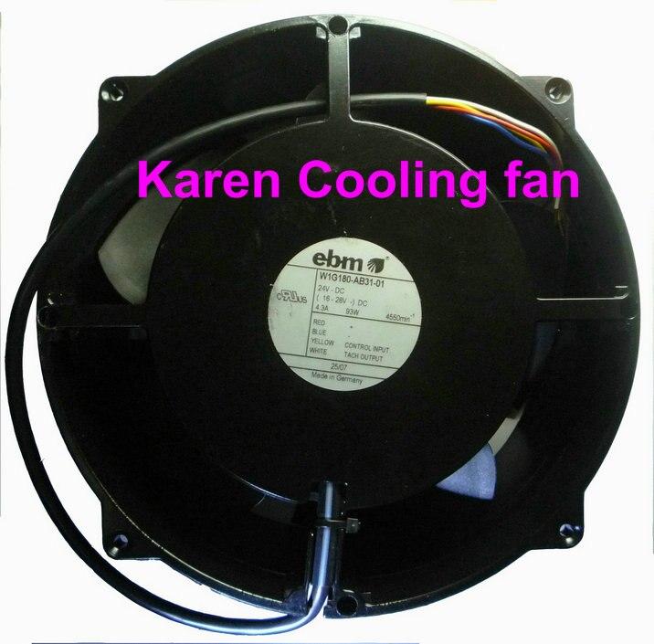 papst W1G180-AB31-01 20070 24v 93w  metal inverter fan free shipping papst 6025 6 inverter fan 24v 2 1w high quality industrial fan 614 nh