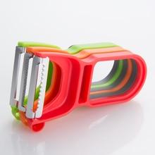 2019 3 pcs/set Portable Kitchenools Multifuction Vegetable Fruit Potato Cutter Magic Peeler Set Slicer Shredder