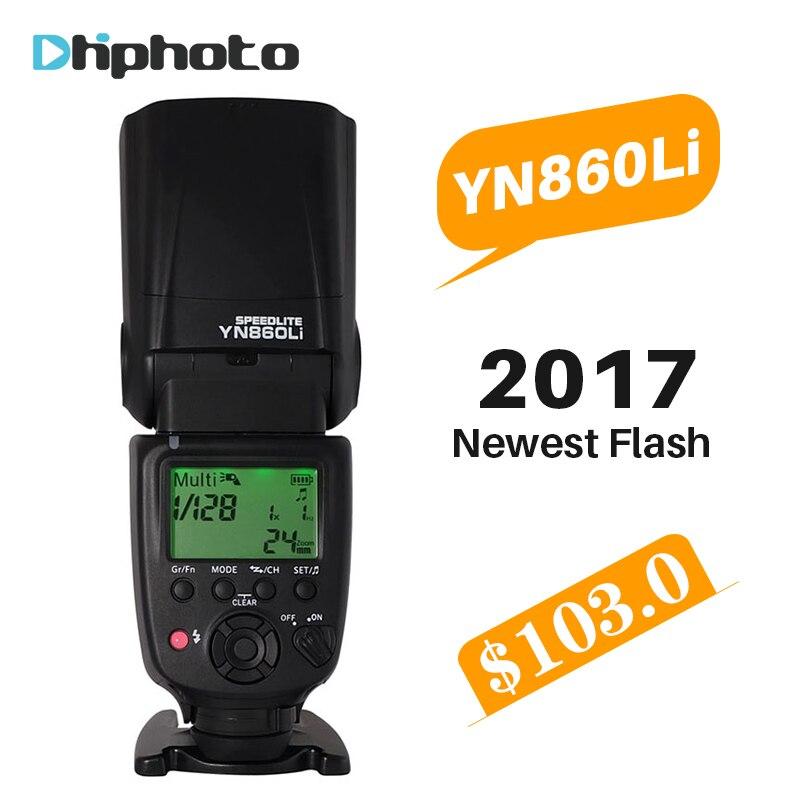 YONGNUO YN860Li Беспроводная вспышка Speedlite литиевая батарея вспышка света для Nikon Canon совместимы YN560III/YN560IV/YN660/YN968N
