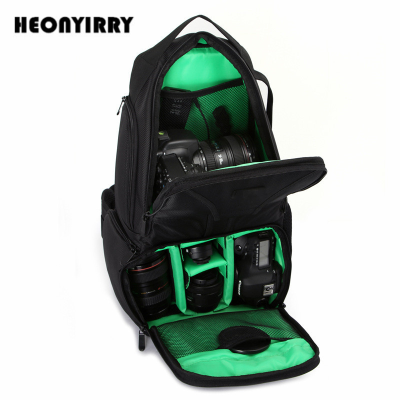 New DSLR Camera Bags Shoulder Cross Digital Handbag Soft Photo Camera Sling Bag for Canon Nikon Sony Waterproof Rain Cover Bag
