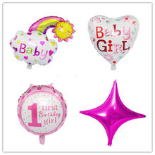 Taoqueen Baby 1st Birthday balloons set pink Blue birthday decorations kids balloons party supplies Cartoon Hats(China)