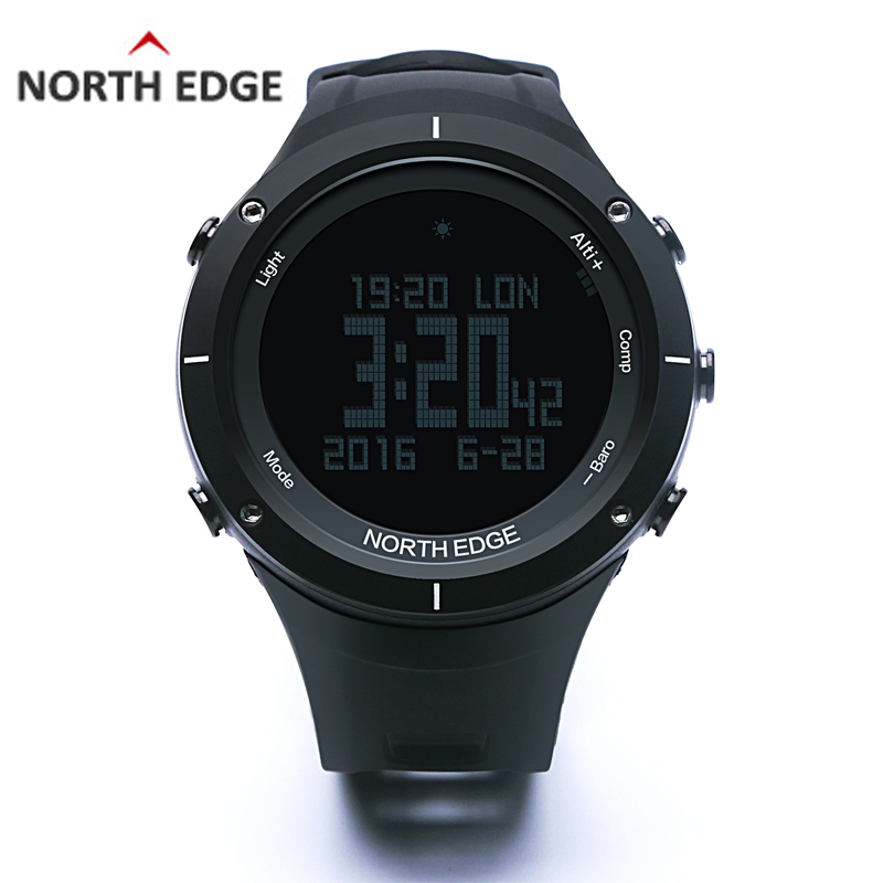 NORTH EDGE Men's Sport Digital Watch Running Swimming Altimeter Barometer Compass Thermometer Weather Pedometer Smart Watches north edge men s sport digital watch hours running swimming sports men watches altimeter barometer compass thermometer weather