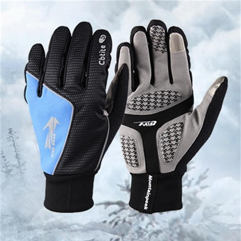 Men and Women Hiking Gloves 3 Colours Outdoor Sports Gloves Full Finger Windproof Ski Cycling Gloves For Phone Touch Screen