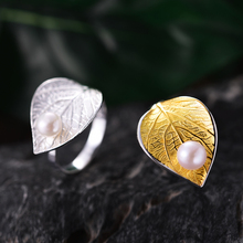 Embla Sterling Silver Leaf Ring