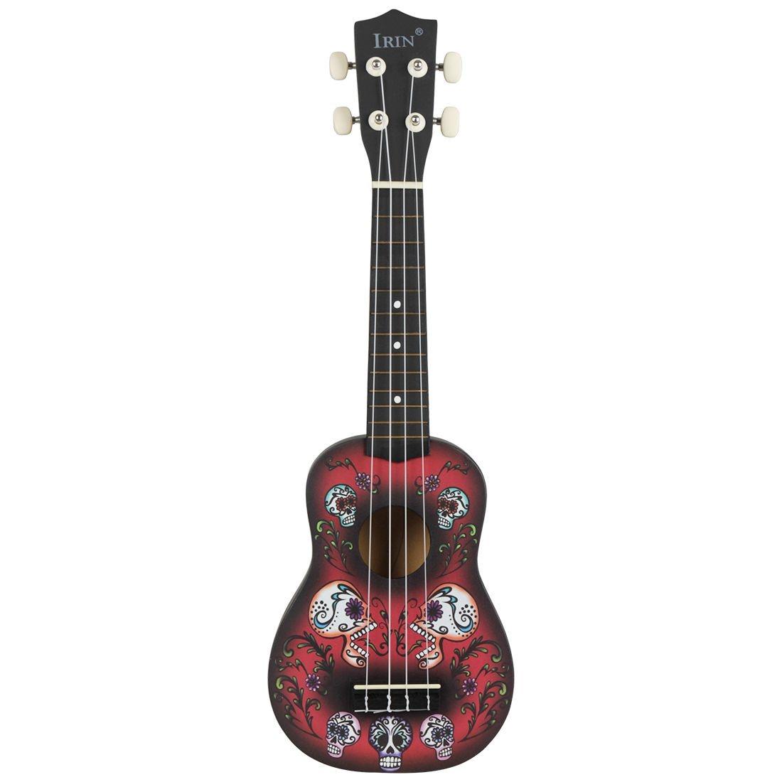 IRIN 21 Inch 15 Frets Soprano Ukulele Uke 4 Nylon Strings Basswood Guitar Dolphin Pattern Universal Acoustic Instrument