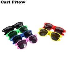Модные брендовые Детские солнцезащитные очки детские черные солнцезащитные очки анти-УФ детские солнцезащитные очки для девочек и мальчиков солнцезащитные очки