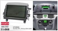 Рамка + Автомобильный DVD Радио для hyundai sonata NF 2006 Android 7.1.1 wifi 3g gps Bluetooth USB четырехъядерный стерео головки магнитофон