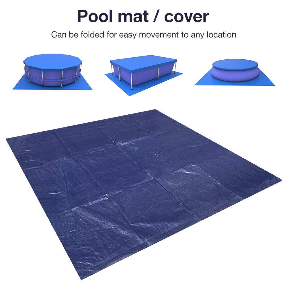New High-quality Durable Swimming Pool Ground Cloth Protective Cover Floor Mat Square Pool Gasket Swimming Pool Accessories