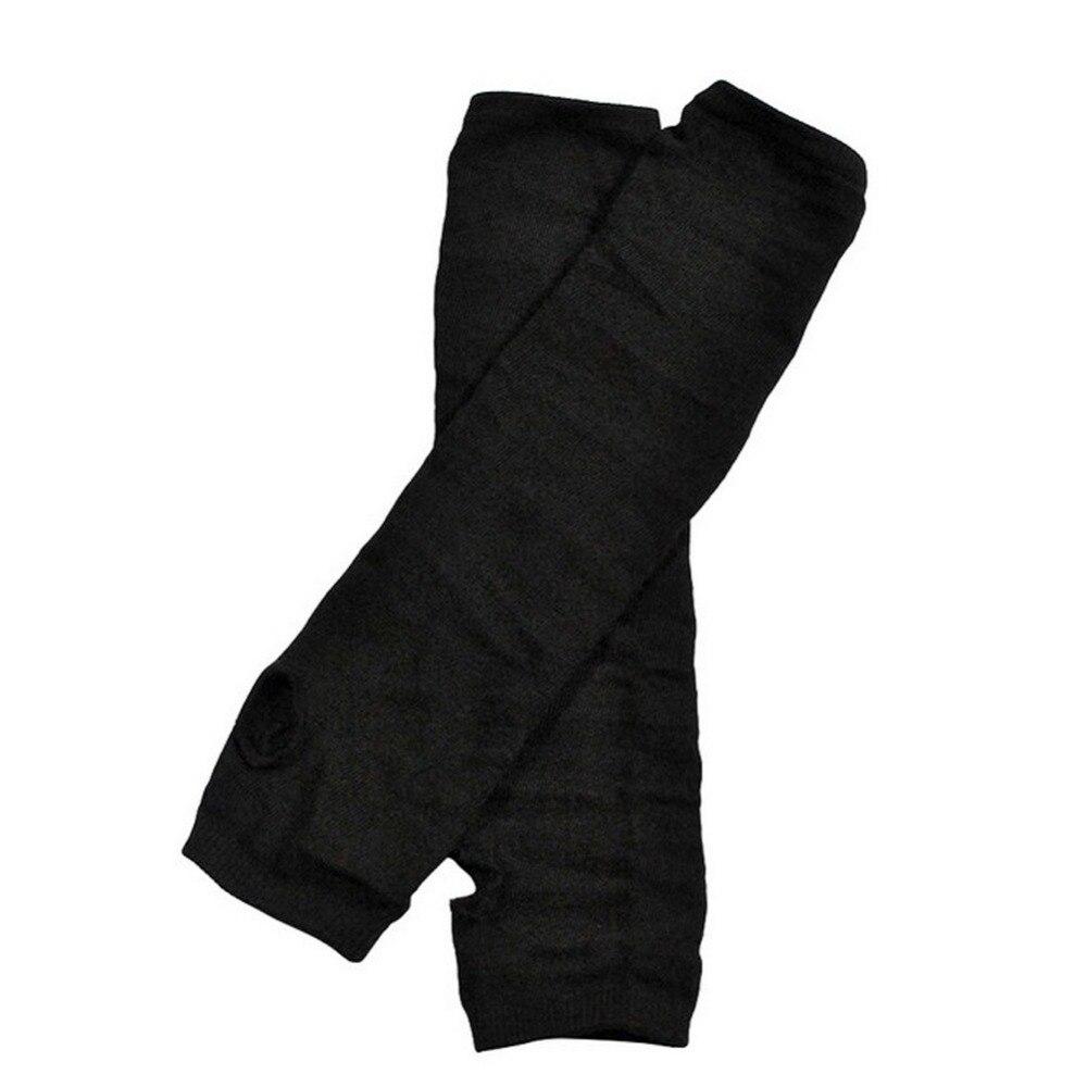 Unisex Warm Arm Mitten Long Sleeve Knitted Gloves Half Fingerless Wrist Cover Glove