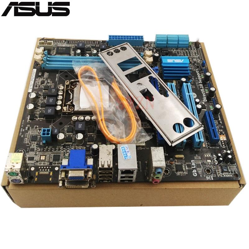 original Used Desktop motherboard For ASUS P7H55-M LX H55 support LGA1156 I3 I5 I7 DDR3 support 8G SATA2 USB2.0 u ATX original new desktop motherboard for asus p7h55 m usb3 h55 support socket lga 1156 i7 i5 i3 maximum ddr3 16gb sata2 2 usb3 uatx