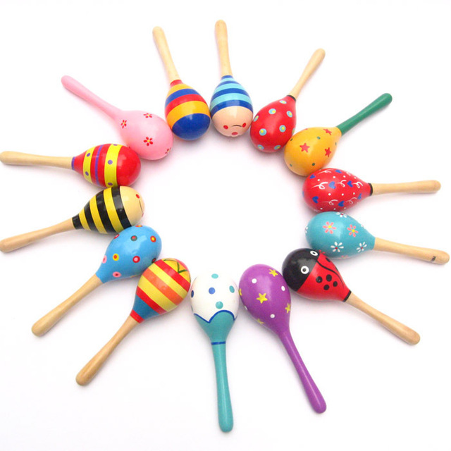 Baby Wooden Rattles Bed Bell Toys