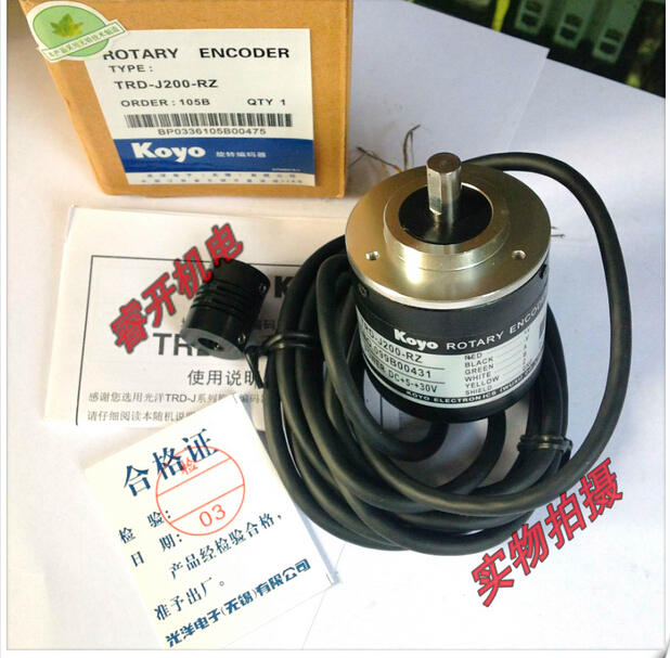 New KOYO rotary encoder TRD-J200-RZ 200 Pulse rotary encoder ose104 second hand looks like new tested working