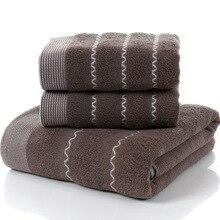 New Lavender Cotton Bath Towel Set jogo de toalhas banho Plaid 1pc 2pcs Face Towels Bathroom Facies Linteum