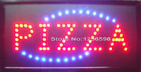 2016 Direct Selling 10x19 Inch Semi Outdoor Pizzas Store Ultra Bright Running Led Illuminated Sign