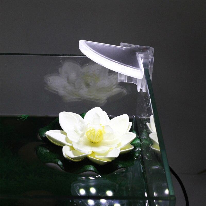 110-220V acuario Led iluminación pecera Clip-on lámpara plantas acuáticas de agua que crece luz blanca enchufe de la UE # 5 uds 4mm/0,16