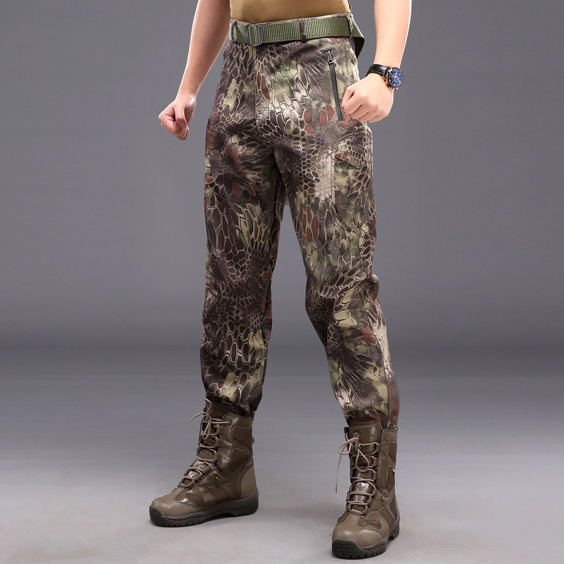Hombres Impermeable Fleece Tiburón Pantalones De Cs Militar Superior Aire Piel Calidad Ejército A Viento Al Libre Prueba Camuflaje qwAZA1