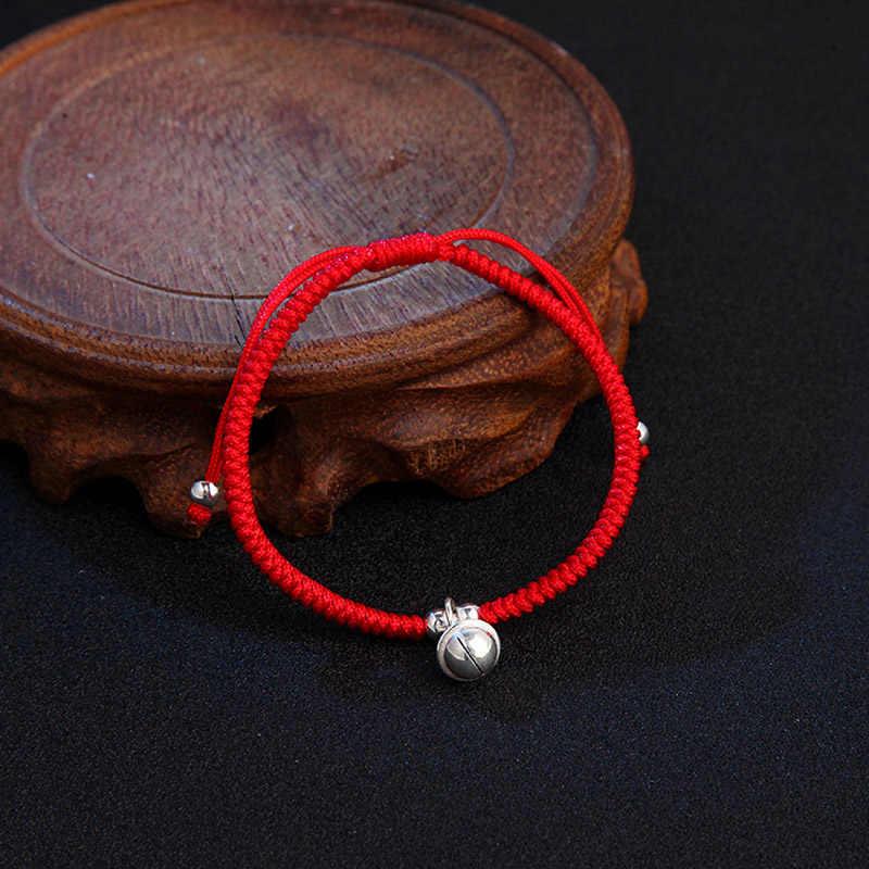 ラ MaxZa 925 スターリングシルバー 7 ミリメートルチャーム古典太い赤ロープブレスレット糸線ストリングのためのブレスレット女性