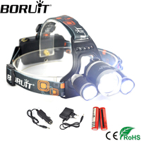 3xCREE XM L XML T6 LED 5000 Lumens Headlight Light Head Lamp Flashlight Headlamp Lantern 2
