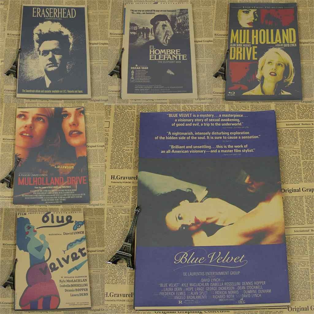 David Lynch Poster Film Kertas Dekoratif Lukisan Blue Velvet Moehle Landau Saya Jantung Liar Karet Manusia Gajah