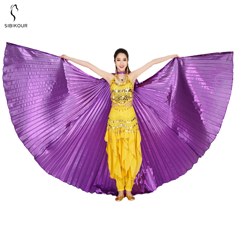 HTB1uVuybRGE3KVjSZFhq6AkaFXa9 - Belly Dance Isis Wings Belly Dance Accessory Bollywood Oriental Egypt Egyptian Wings Costume With Sticks Adult Women Gold