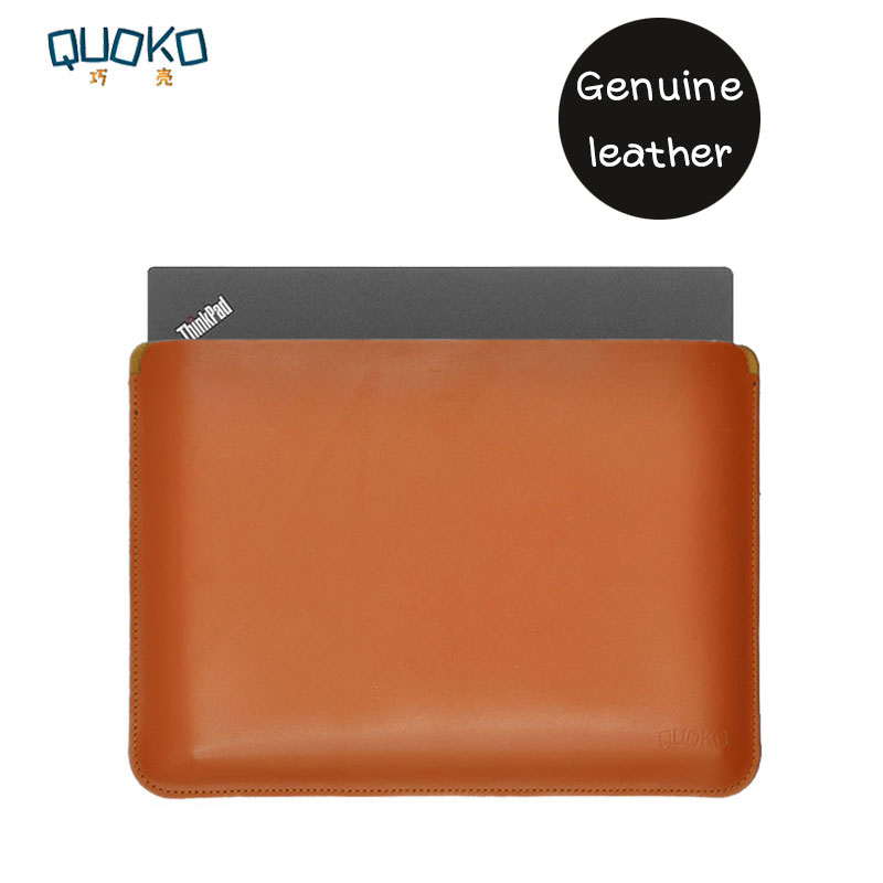 Simplicity and super slim 100 Genuine leather Laptop bag case Sleeve for Lenovo Thinkpad X1 P1