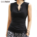 Gootuch 2017 Summer Tops Women Blouse shirt V-Neck Fashion Sleeveless top  Female Office Tops Plus Size 5XL 6XL 2289A
