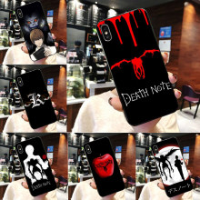 Death Note Ryuk Kira TPU Lembut Hitam Coque Shell Ponsel Case untuk Apple Iphone 8 7 6 6 S plus X 10 X XS Max XR 5 5 S SE(China)