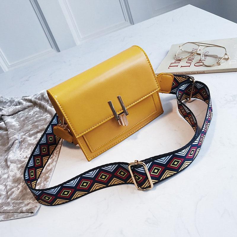New Women Fashion Width Shoulder Bags INS Popular Female Exquisite Solid Handbag Mini Flap Lady Travel Chains Crossbody SS3474 (12)